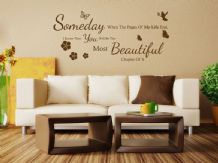 """When The Pages Of My Life..."" Wall Art Quote, Decal, Modern Transfer Sticker."